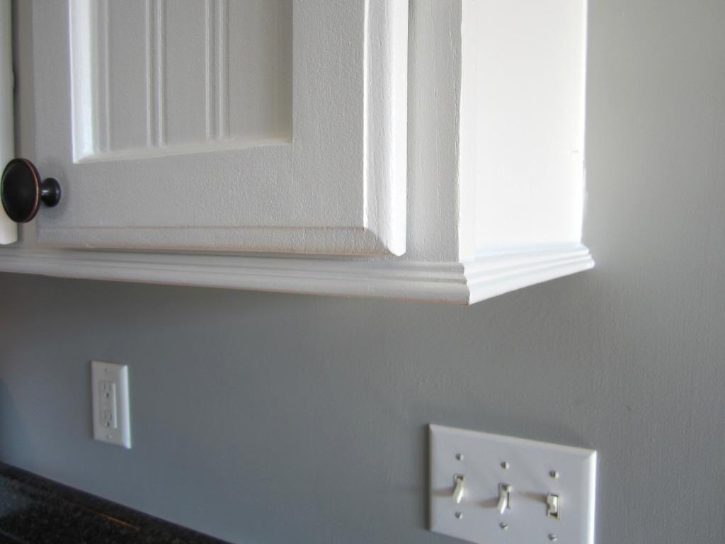 Add Trim To Builder Grade 42 Kitchen Cabinets Crown Substitute Kitchen Cabinet Molding Cabinet Molding Upper Kitchen Cabinets