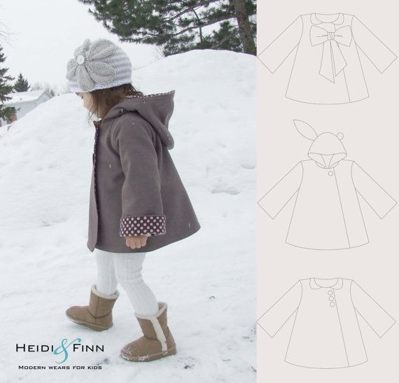 Chic Cocktail Swing Coat pattern and tutorial 12M-5T holiday jacket ...