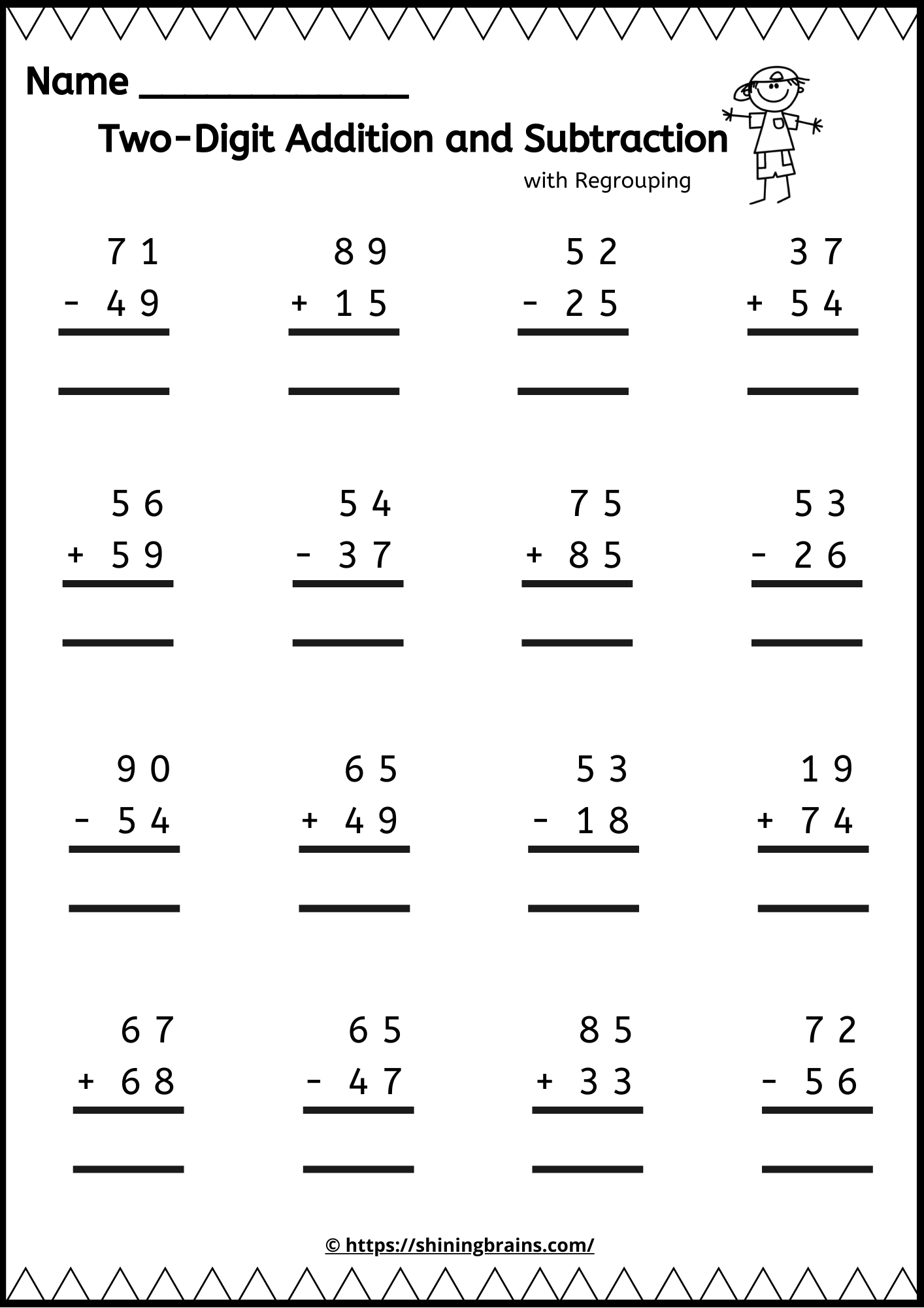 Two Digit Addition And Subtraction With Regrouping Addition And Subtraction Worksheets Subtraction Worksheets Worksheets [ 2000 x 1414 Pixel ]