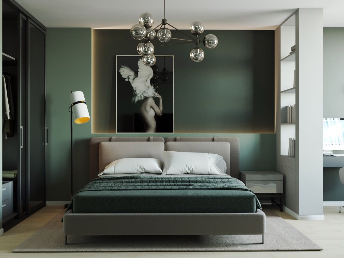 51 Green Bedrooms With Tips And Accessories To Help You Design Yours Green Bedroom Walls Olive Green Bedrooms Green Master Bedroom