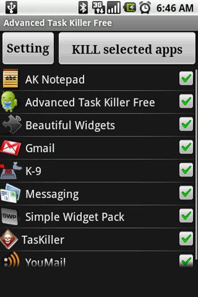 One of the most popular Task Killer. Use Free Advanced Task Killer
