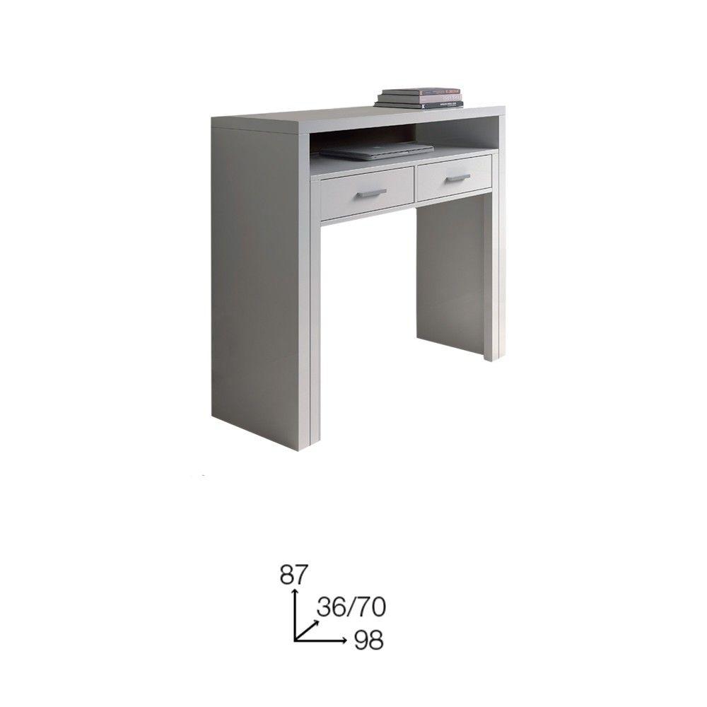 Mobile scrivania scrittoio a scomparsa bianco 004582bo porta pc scrivania pinterest - Mobile porta pc a scomparsa ...