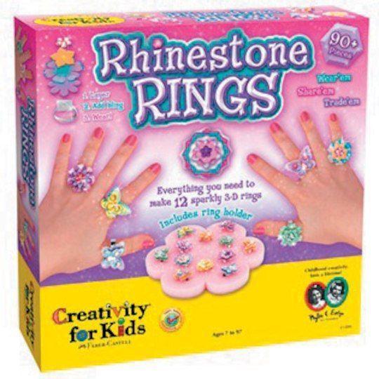 fabercastell rhinestone rings craft kit  how to make