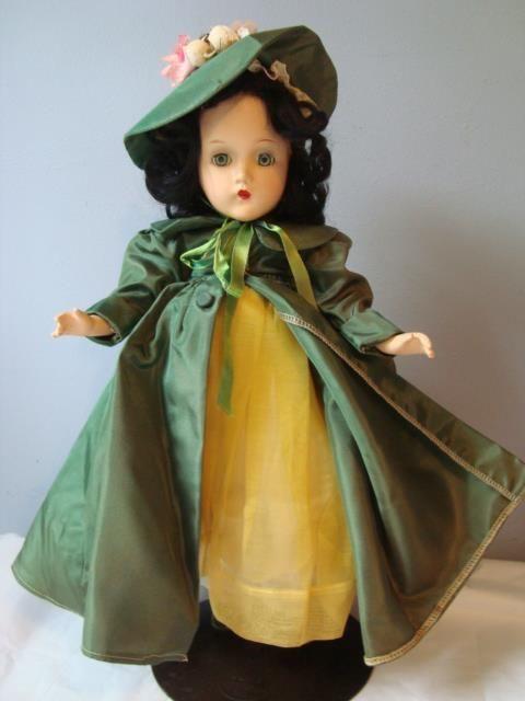 """1937 Madame Alexander Scarlett O'Hara 15"""" Composition Doll N/Mint GWTW Yellow"""