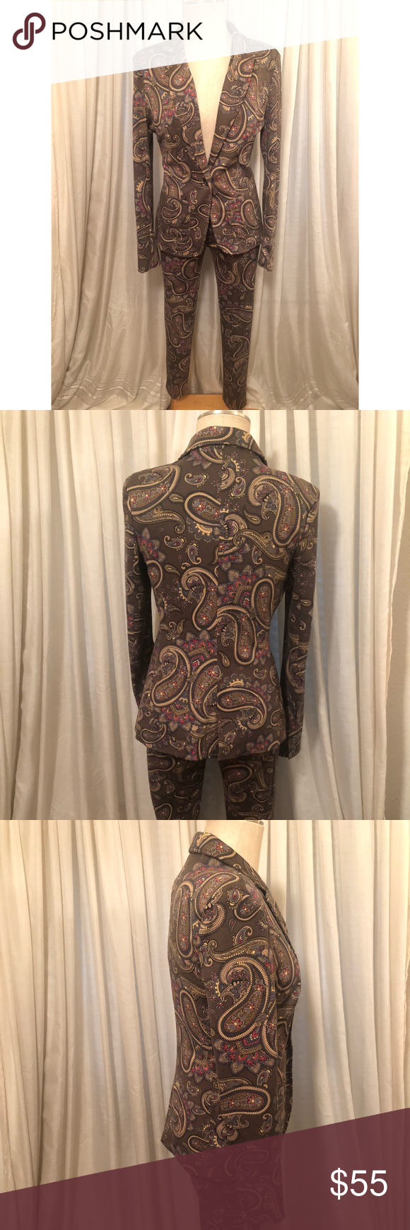 mng Paisley Printed Suit Waist 30 inches Inseam 29 inches