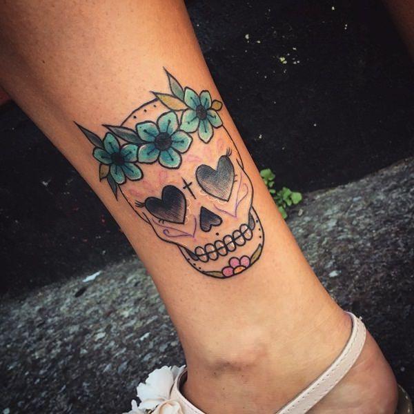4538e8479 99 Gnarly Skull Tattoos That Will Make You Gawk   tattoos i want ...