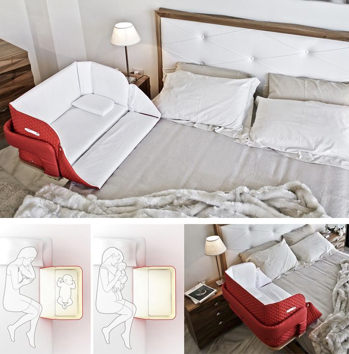 b14da5fca The Culla Belly Co-Sleeper Attaches onto Beds For Easy Access