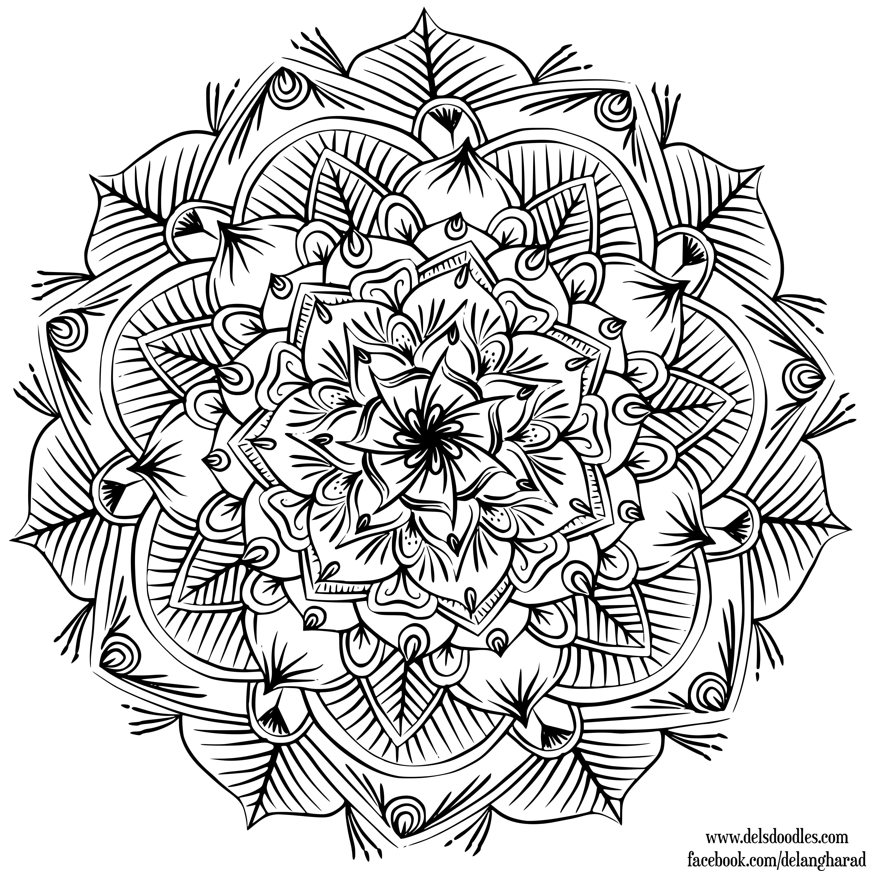 Krita Mandala 29 Coloring Canvas Hand Art Drawing Mandala