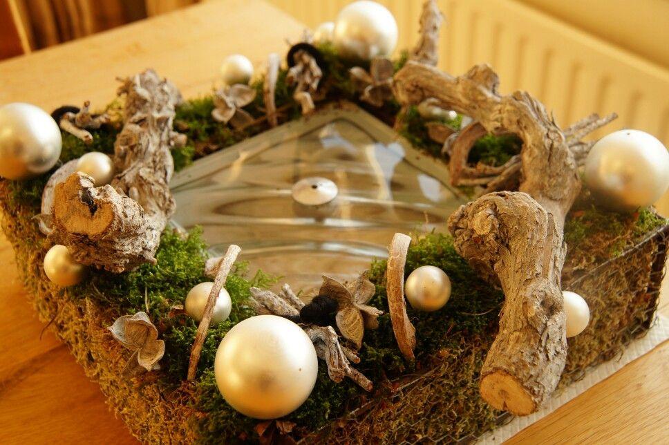 Vierkant kerststuk