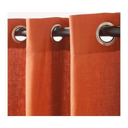 MARIAM Gordijnen, 1 paar Oranje 145x300 cm - Gordijnen, Paars en Ikea