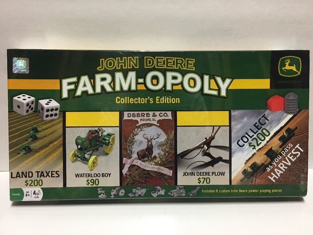 John Deere Farm Opoly Collectors Edition Board Game By Masterpieces
