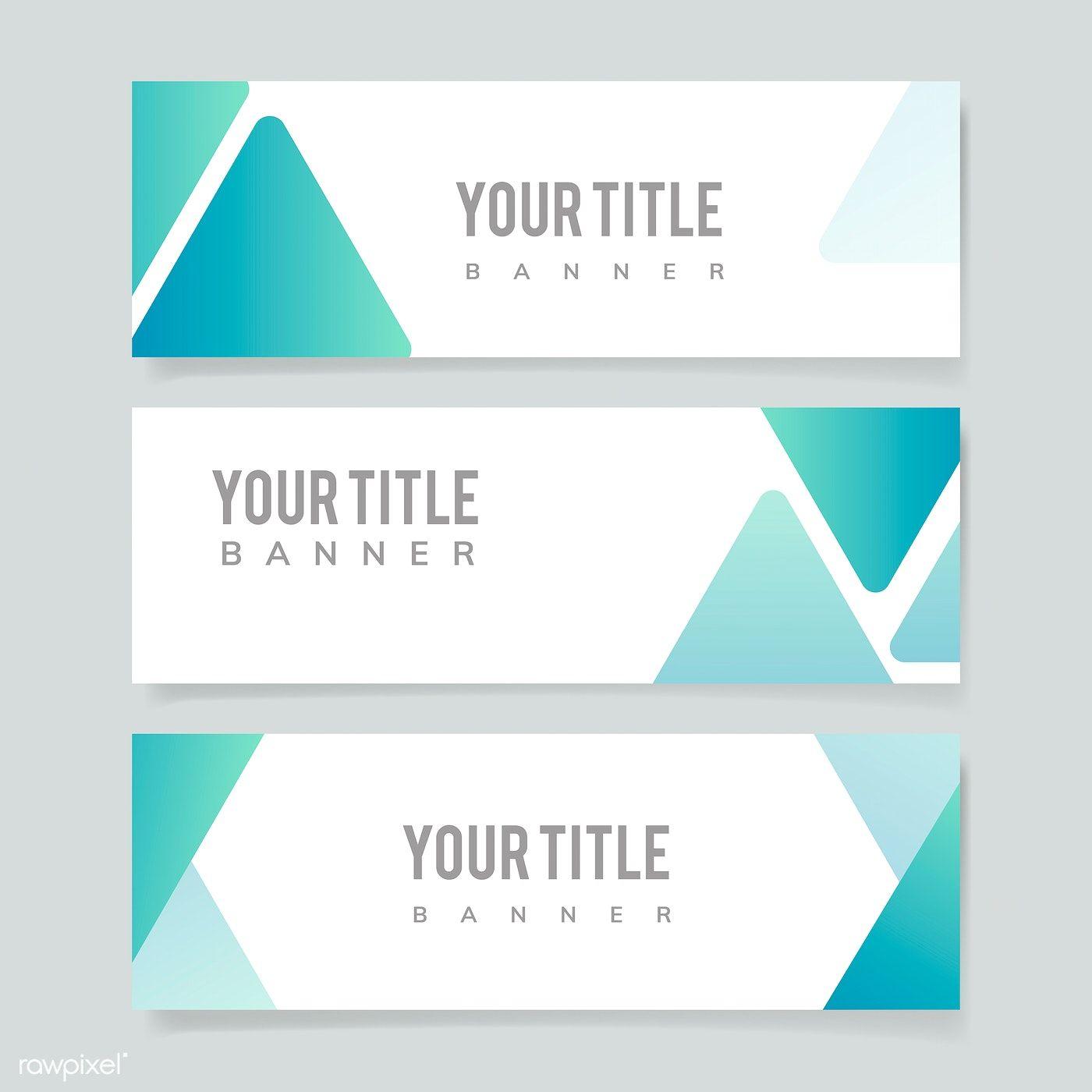 Blank Abstract Design Banner Illustration Free Image By Rawpixel Com Banner Design Banner Template Design Website Banner Design