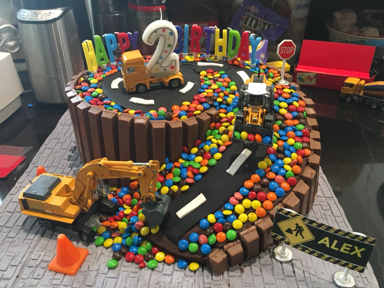 Construction Site Birthday Cake Construction Birthday In