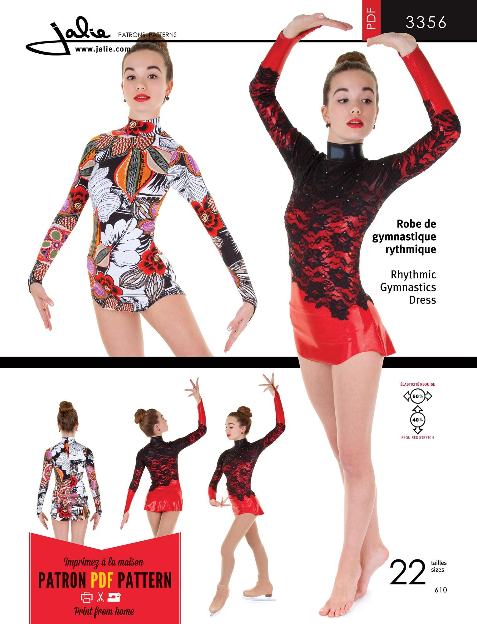 db5bff0c7153 Jalie 3356 - Rhythmic Gymnastics Dress PDF Pattern