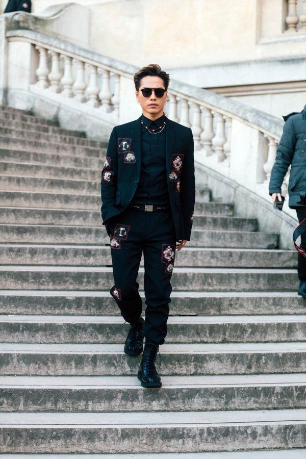 登坂広臣/「ディオールオム(Dior Homme)」2017,18秋冬コレクション(写真:Getty Images)