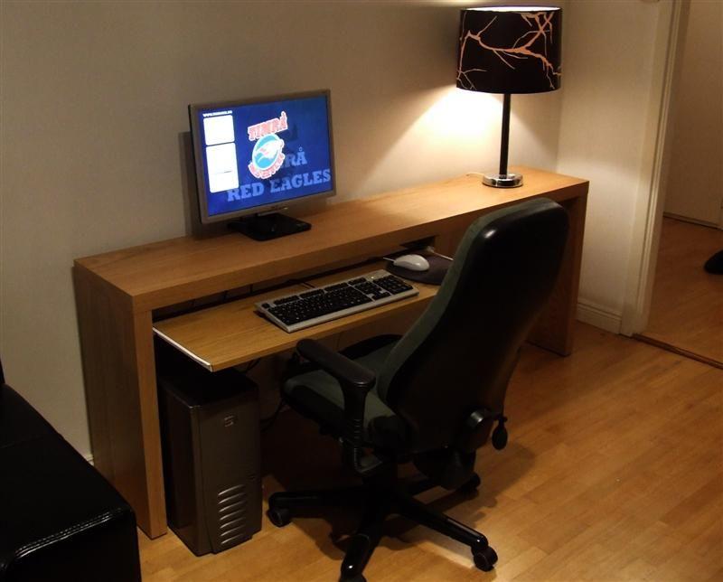 simple wooden computer desk for fabulous and delightful simple computer desk inspiring ideas - Ikea Computer Desk Ideas