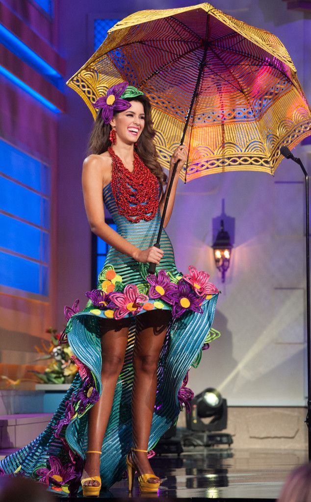 Elaborate costumes displayed at the Miss Universe National