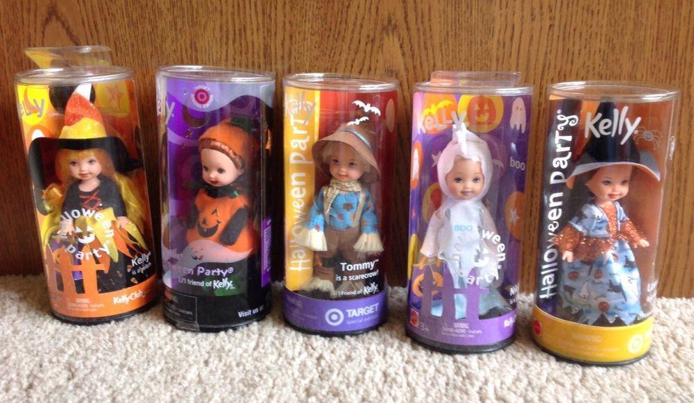 Mattel Barbie Kelly Club Doll Halloween Lot Of 5 Target Exclusive