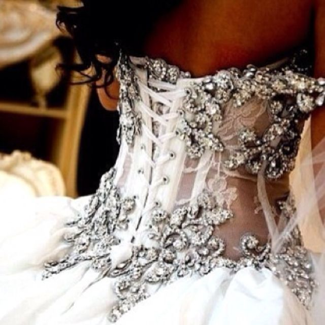 Bedazzled wedding gown corset. Omg stunning. | *Rock* Your Style ...