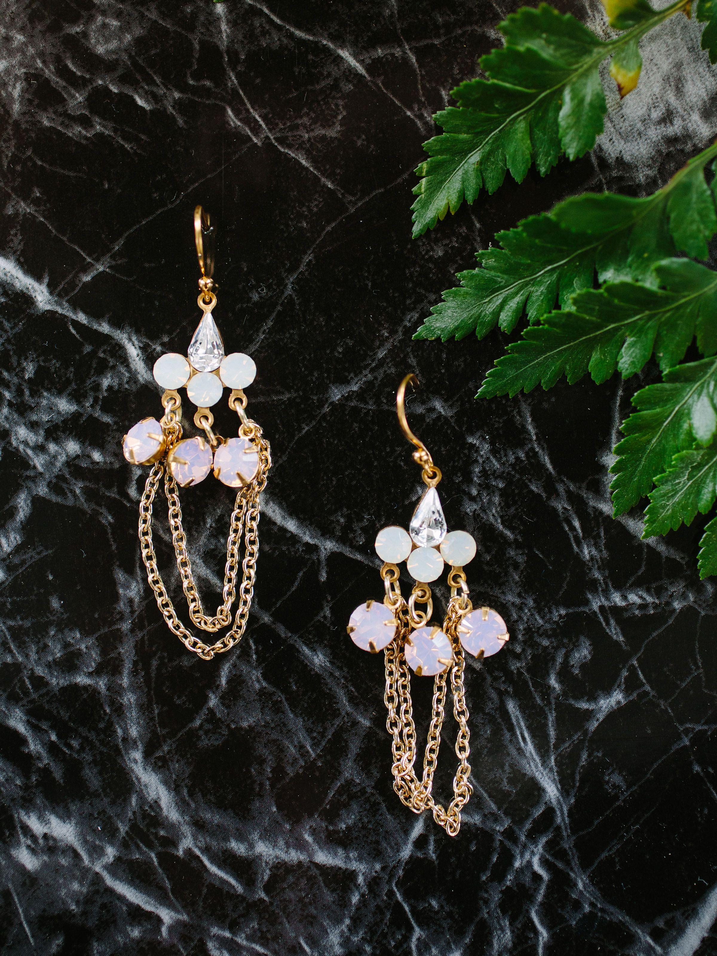 Mars Wedding earrings drop, Bridal accessories, Bridal