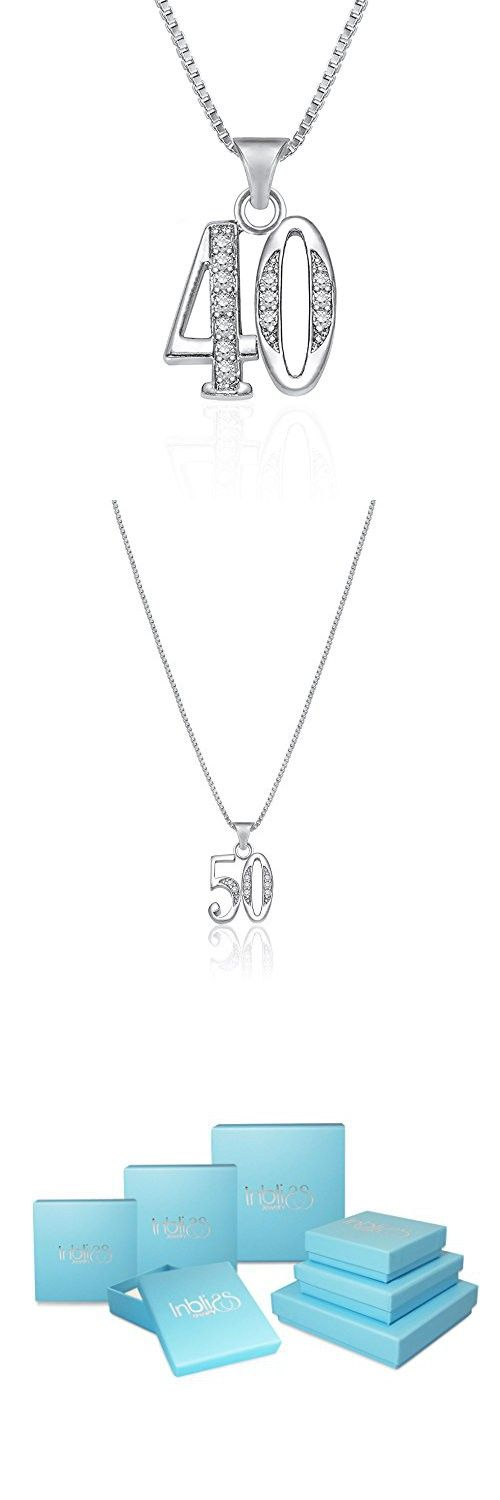 e460efd86 Number Forty Number 40 Charm Pendant Necklace For Fortieth Birthday 40th  Anniversary 18