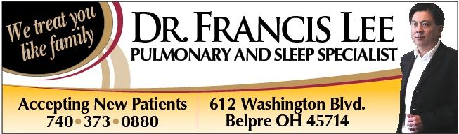 New Ad for Ohio Valley Pulmonary Specialist Dr  Francis Lee