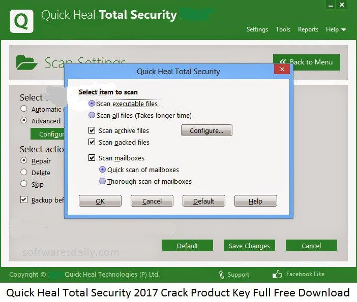 quick heal total security download with key free