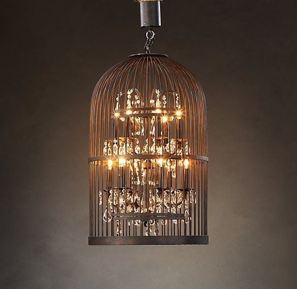 Vintage Birdcage Chandelier 21 With Images Birdcage