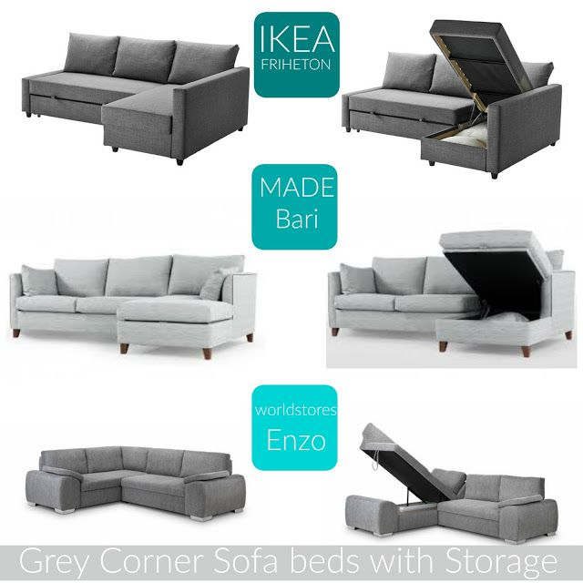 Couch Bed With Storage Part - 39: Home: The Best Grey Corner Sofa Beds With Storage