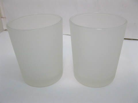 40 Frosted Glass Tea Light Holder Wedding Favor 6.5cm [we-o40] - $30.00 : Sunrise Imports Where Everybody pays the wholesale price