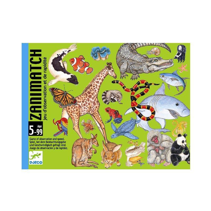 """Et fantastisk observationsspil, hvor det gælder om, først at komme af med sine kort.Spillet består af 12 store """"meli-melo"""" kort samt 60 dyrekort. Hver"""