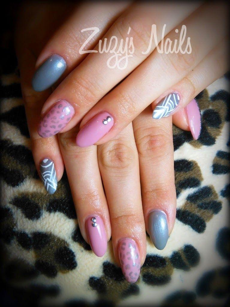Zuzy's Nails: More Acrylic nails. Almond shaped nails