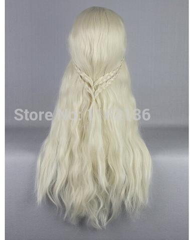 Peruca Daenerys (Game of Thrones) Loiro Longo