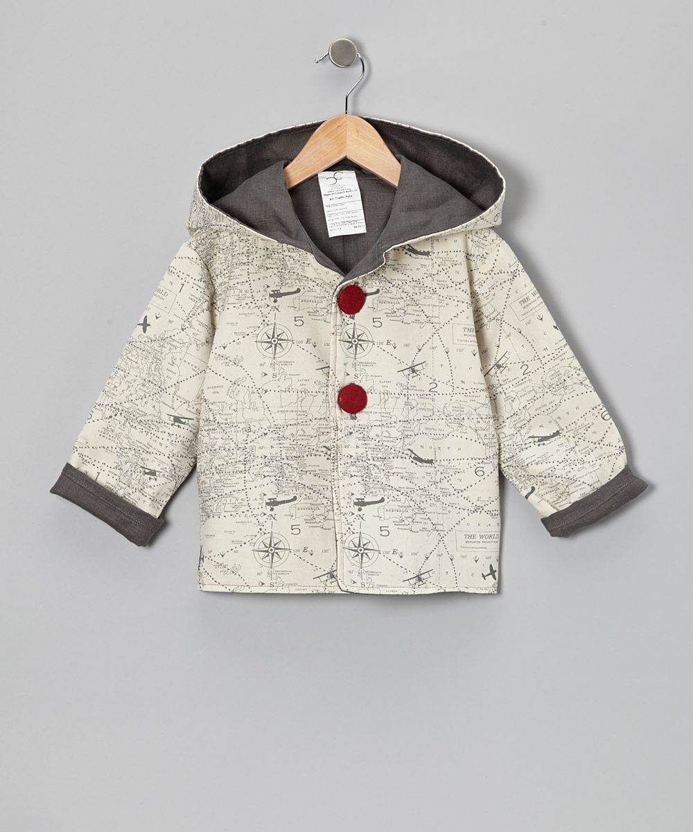 Beige Air Traffic Hooded Jacket - Infant & Toddler | Daily deals for moms, babies and kids