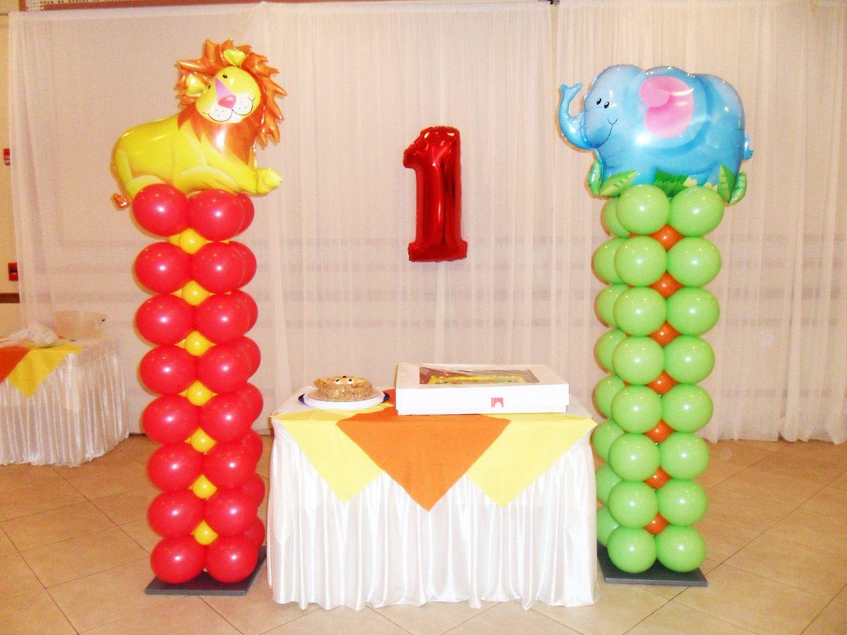 Resultado de imagen para balloon decoration columns buhos