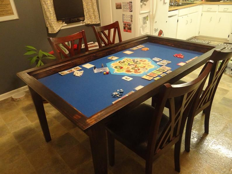 Board Game Table with Removable Topper in 2020 Board