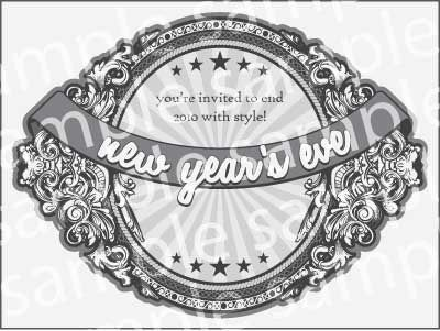free printable new years eve invitation