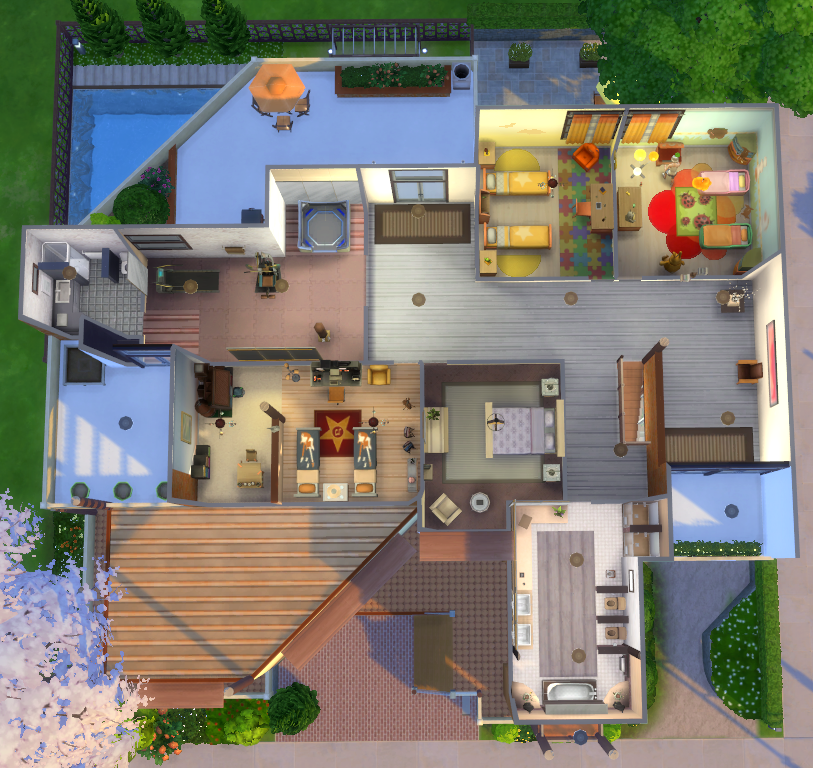 Wondercarlotta Sims 4 Family Home Fleuve Tranquille This House Is No Sims House Sims 4 House Building Sims 4 Houses