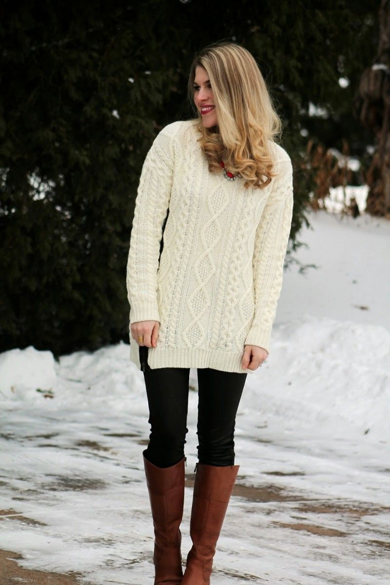 Long Sweaters For Women With Leggings7 | Long Sweaters | Pinterest ...