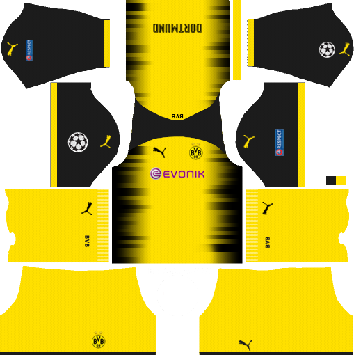 d5520e2863b Borussia Dortmund Dream League Soccer Kits 512x512 URL - International with  Yellow Shorts