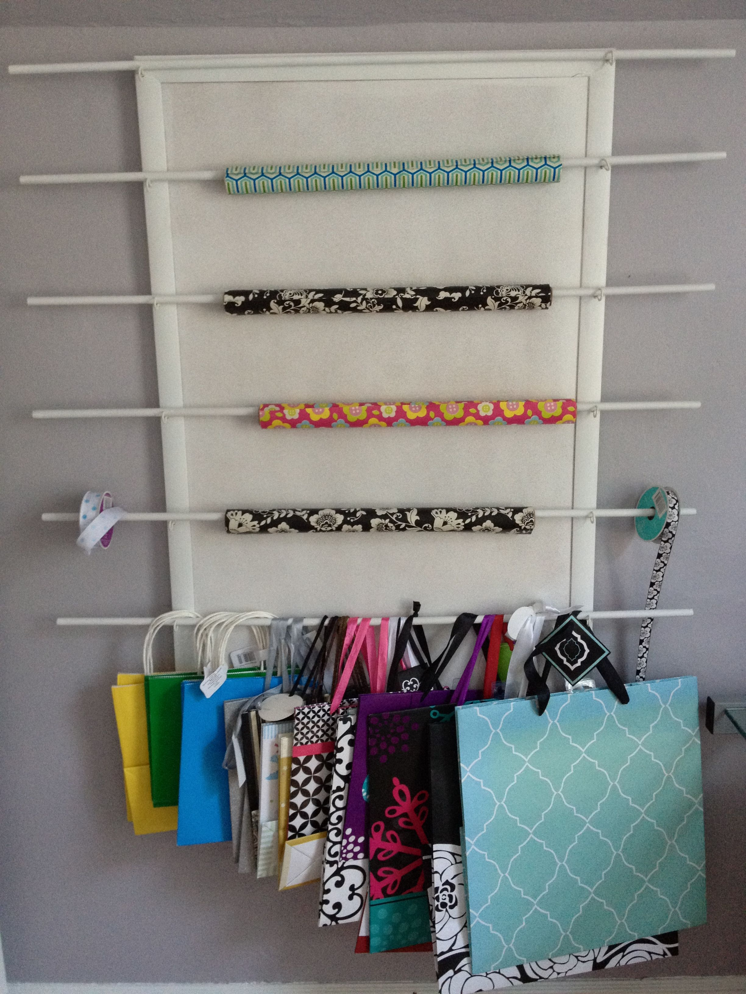 Wrapping Paper Gift Bag Organizer