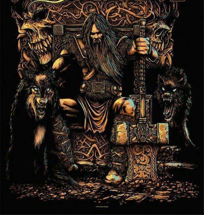 Odin Thor Viking Art Norse Pagan Norse Symbols