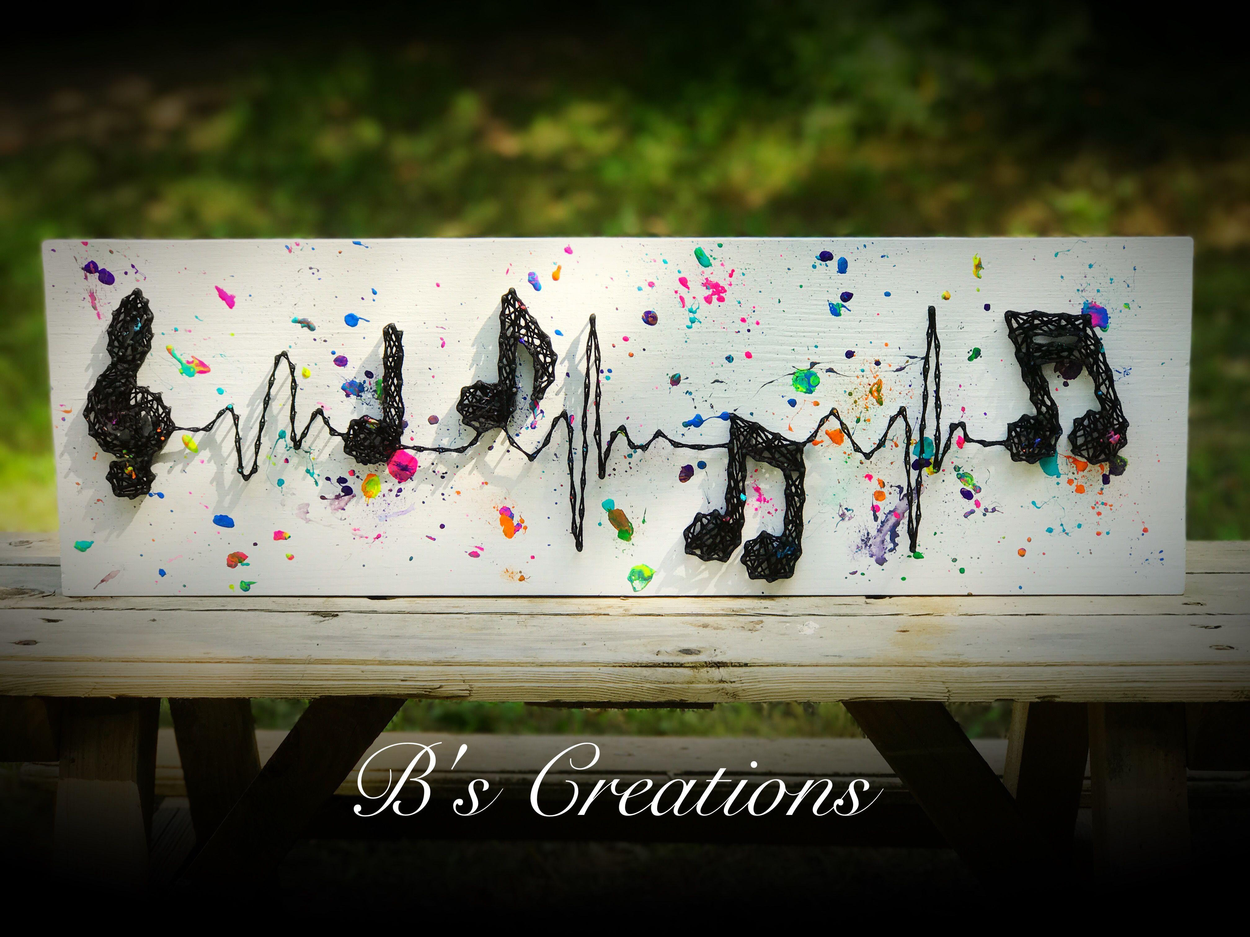 Music in your heart string art !!! #stringart
