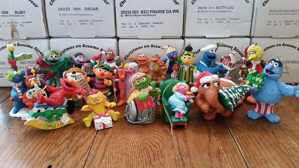 Grolier 23 Sesame Street Christmas Ornament Collection Jim Benson Honkers Elmo Sesame Street Christmas Christmas Ornaments Christmas