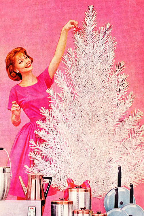 50s Christmas Kitsch Christmas Pink Christmas Vintage Christmas