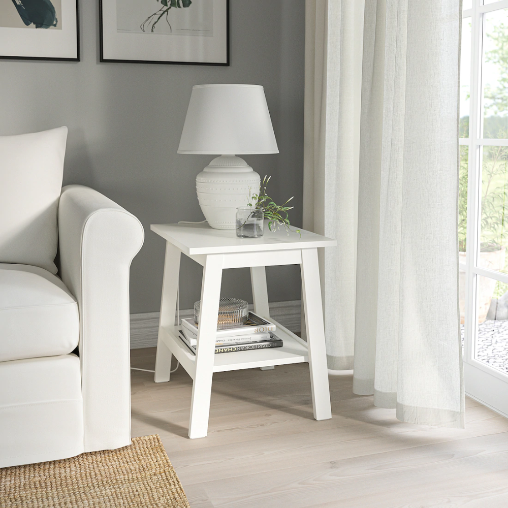 Lunnarp White Side Table 55x45 Cm Ikea In 2020 White Side Tables Side Table Decor Living Room Living Room Side Table