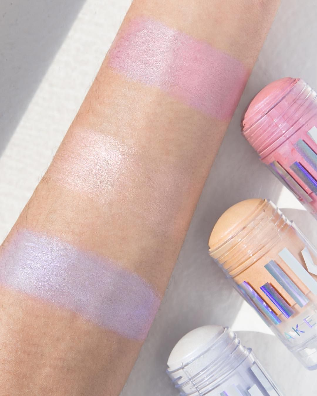 Milk Makeup Holographic Stick Swatches Milk makeup