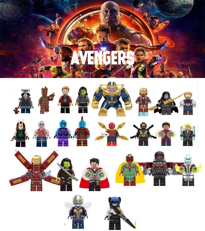 16pcs Lot Avengers Endgame Mini Figures Action Toys Marvel Infinity War
