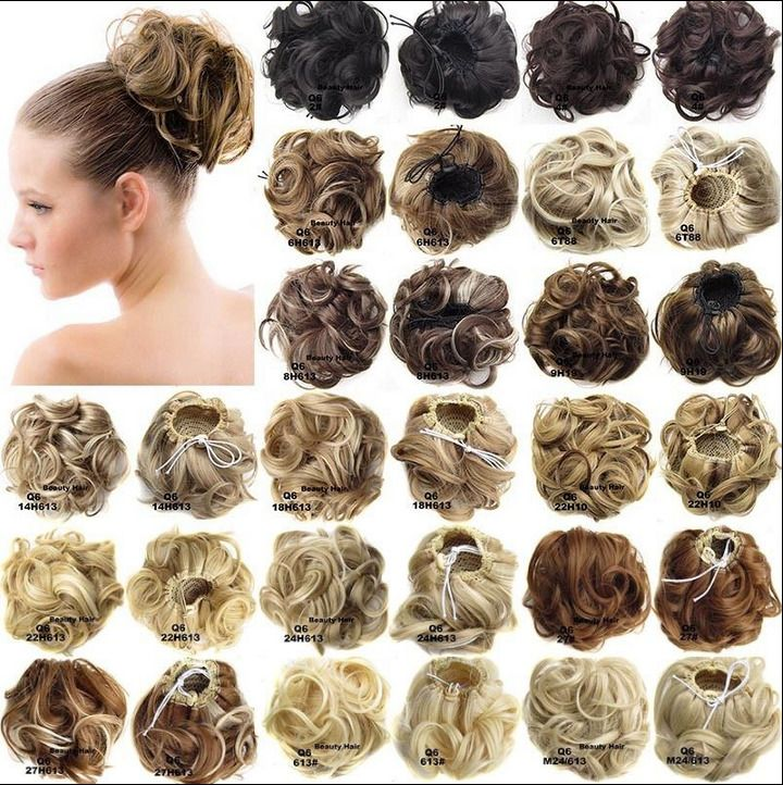 106 Aud Women Pony Tail Girls Clip Inon Hair Bun Hairpiece Hair