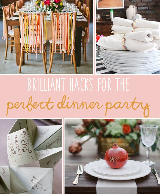 Wonderful Dinner Party Ideas For 20 Part - 6: 20 Foolproof Hacks For Throwing The Perfect Dinner Party